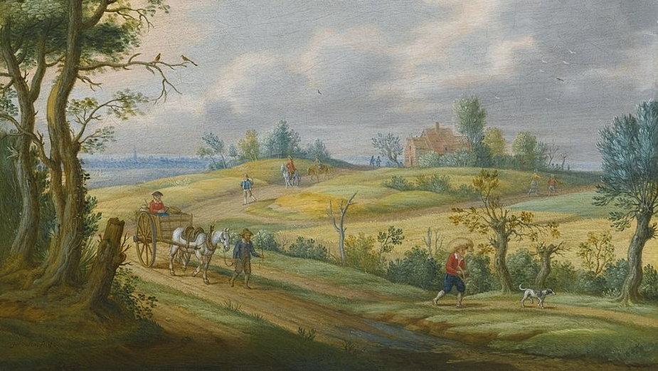 Letni krajobraz, obraz Izaaka van Oostena