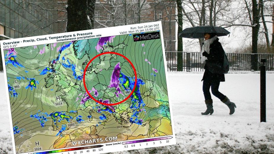 Prognoza pogody. Pogoda na poniedziałek 25 stycznia 2021