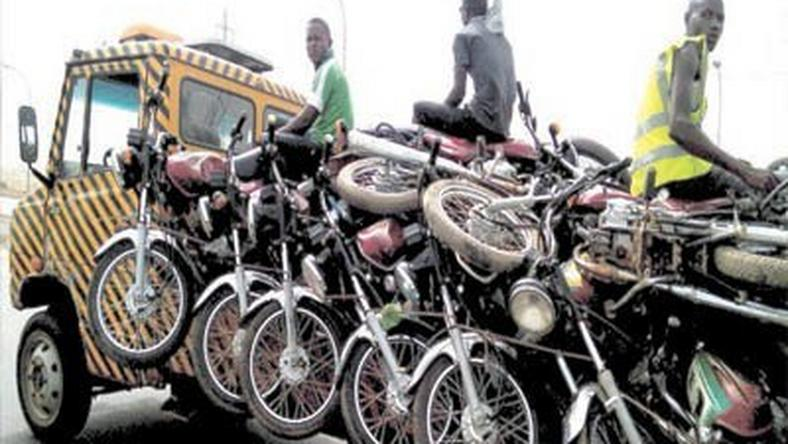 Impounded motorcycles in FCT