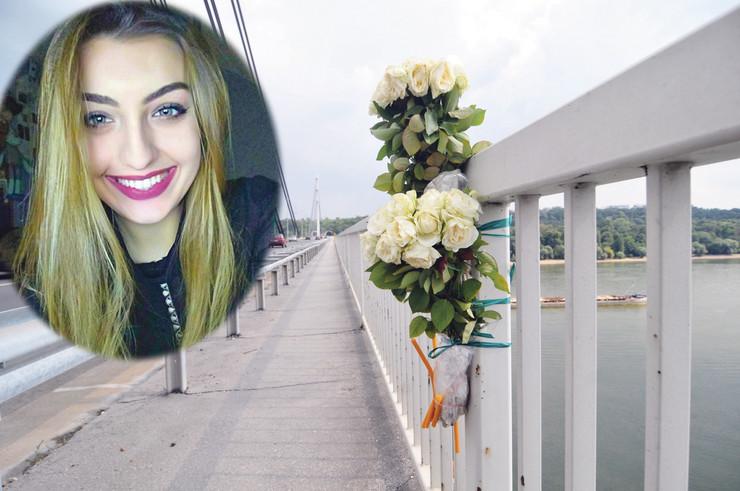 novi sad 2739 cvece i svece na mostu slobode za pokojnu aleksandra bozic foto robert getel