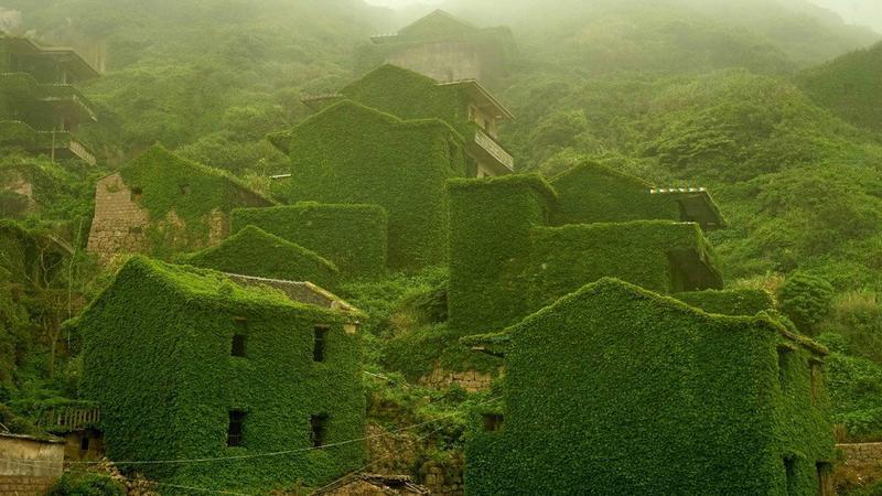 Opuszczona wioska na chińskiej wyspie Gouqi