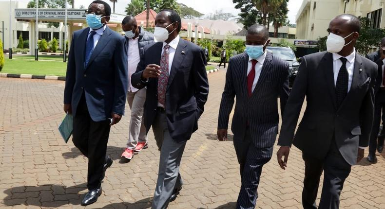Kalonzo Musyoka's one request to DP Ruto after presenting himself to DCI