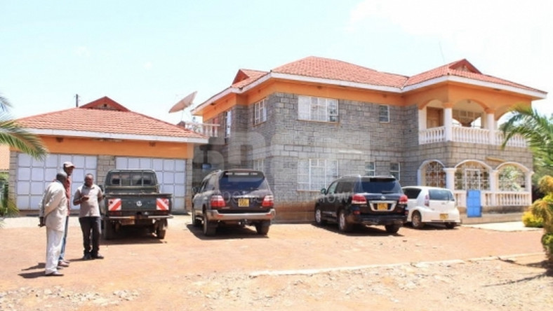 Jackson Kibor's palatial home in Eldoret. He has threatened to jail any of his children who wastes his wealth
