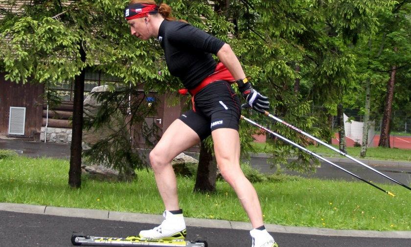 Justyna Kowalczyk trenuje w Zakopanem