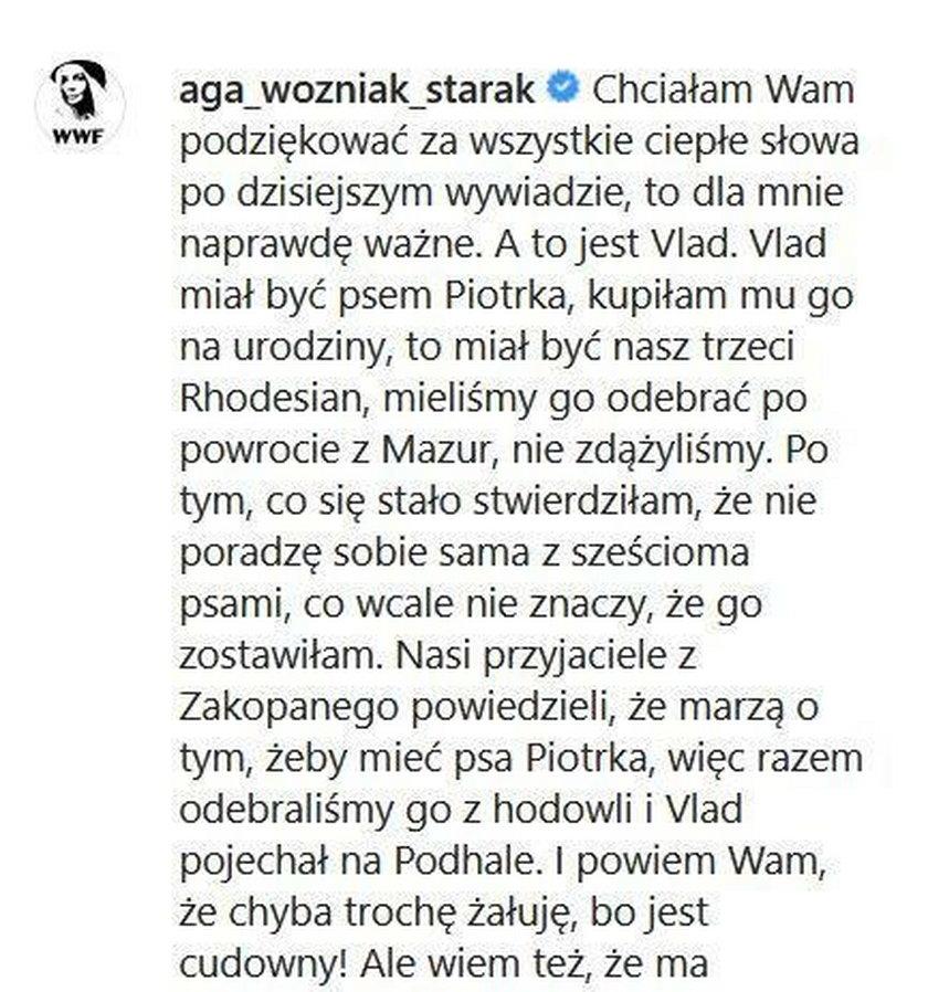 Dramatyczne wyznanie Agnieszki Woźniak-Starak. Musiała to zrobić po śmierci męża