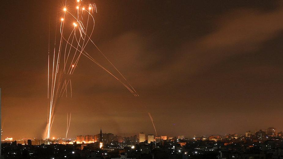 Powietrzny atak armii Izraela na Strefę Gazy