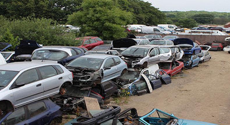 Accident vehicles