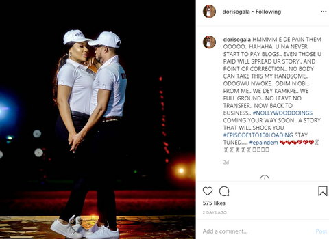 She went on to debunk the claims that her marriage was on the brink of collapse and that it would be difficult for anyone to break up her union. [LindaIkeji]