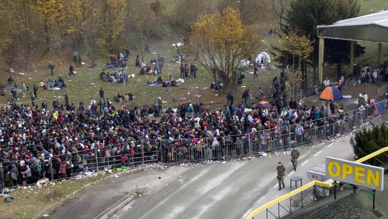 Imigranci na granicy słoweńsko-austriackiej