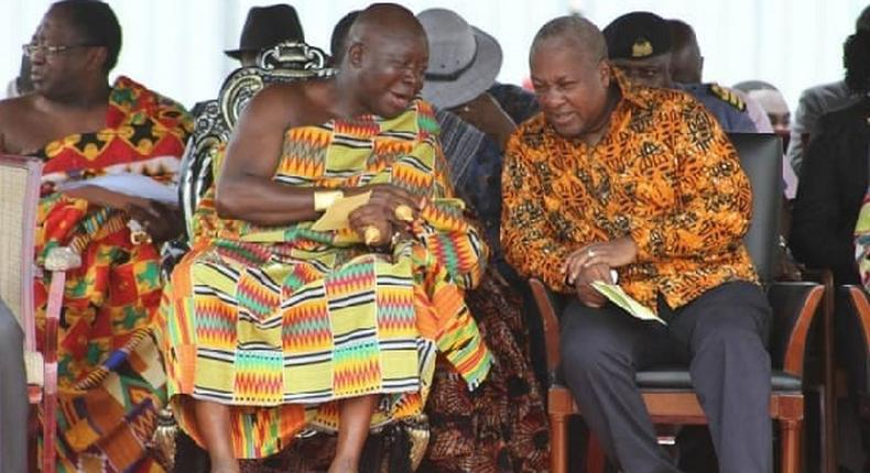 A famous chief says he convinced Ghana's ex-President Mahama to concede defeat in the 2016 Presidential election