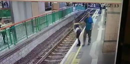 Szokujące nagranie. Wepchnął kobietę na tory
