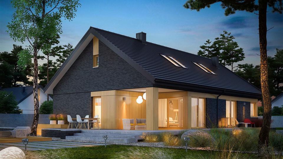 Przytulny dom z atrakcyjną antresolą. Zobaczcie projekt i wnętrze