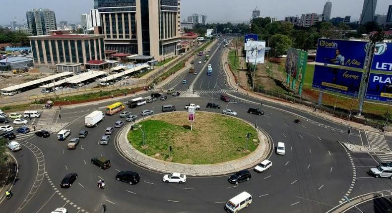 Ngong Road roundabout