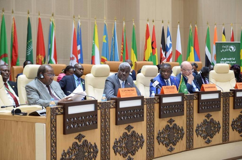 African leaders at the AU peace and security meeting