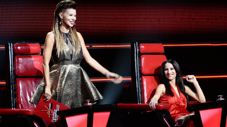 """Edyta Górniak i Justyna Steczkowska w """"The Voice of Poland"""" (2014)"""