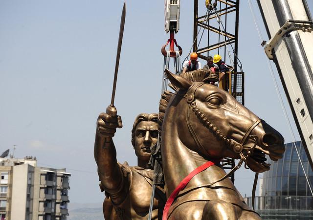 Pogledajte Slike U Skoplju Podignut Spomenik Aleksandru Makedonskom