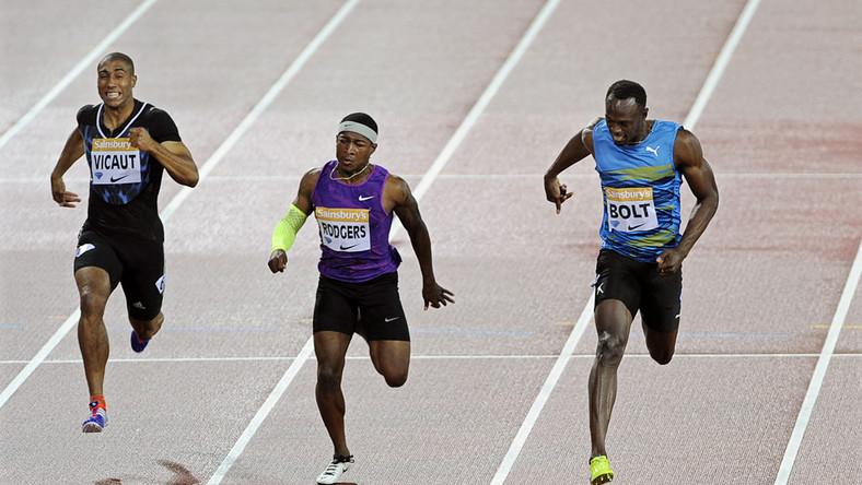 Usain Bolt (z prawej)