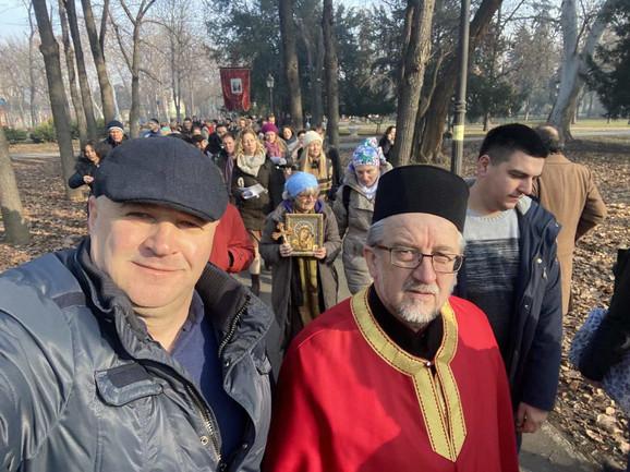 Litija u Beogradu - podrška verujućem narodu u Crnoj Gori