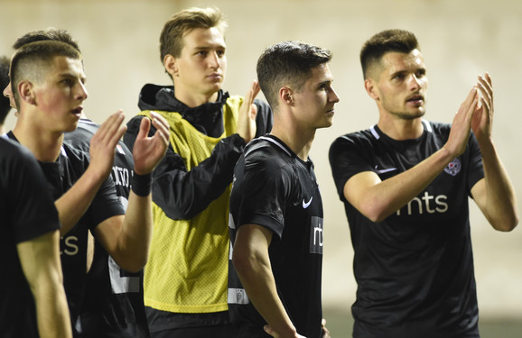 Fudbaleri Partizana nakon poraza od Voždovca