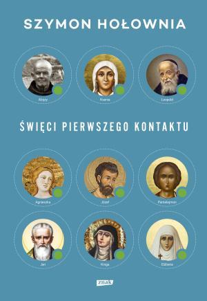 """Okładka książki """"Święci pierwszego kontaktu"""" Szymona Hołowni"""