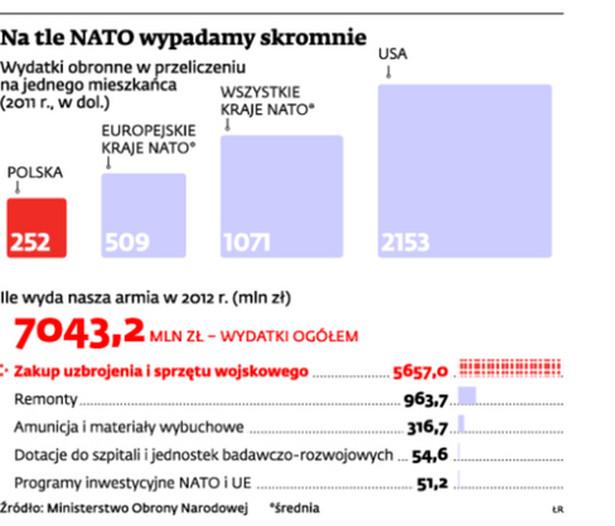 Na tle NATO wypadamy skromnie