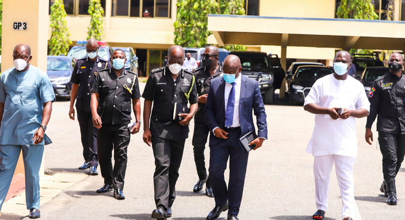 Police and COCOBOD officials