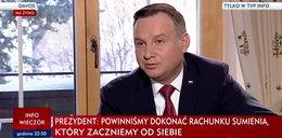 Andrzej Duda zrobił rachunek sumienia