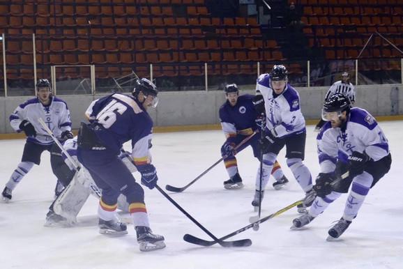 Detalj sa meča između hokejaša Beograda i UTE-a