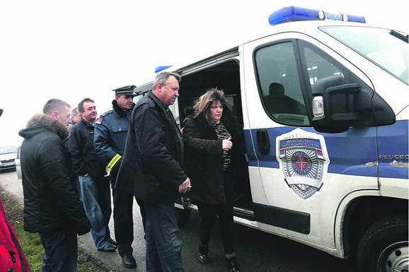 Lisice: Kidnaperka Sabrina Gorin (54) sprovedena je u beogradsku policijsku stanicu
