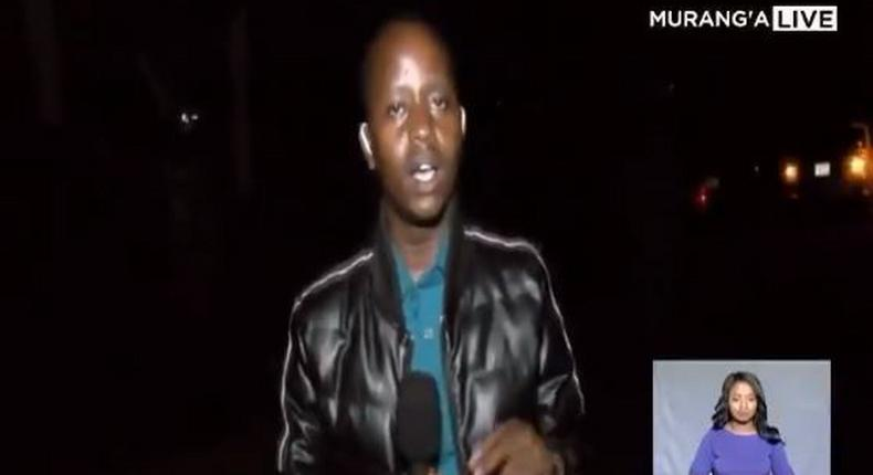 Royal Media Services journalist Victor Kinuthia