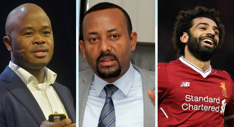 These are three of the five Africans featured on Time's list of Most Influential People of 2019 (canva)