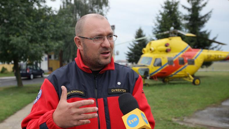 Dyrektor Lotniczego Pogotowia Ratunkowego Robert Gałązkowski, fot. PAP/Paweł Supernak