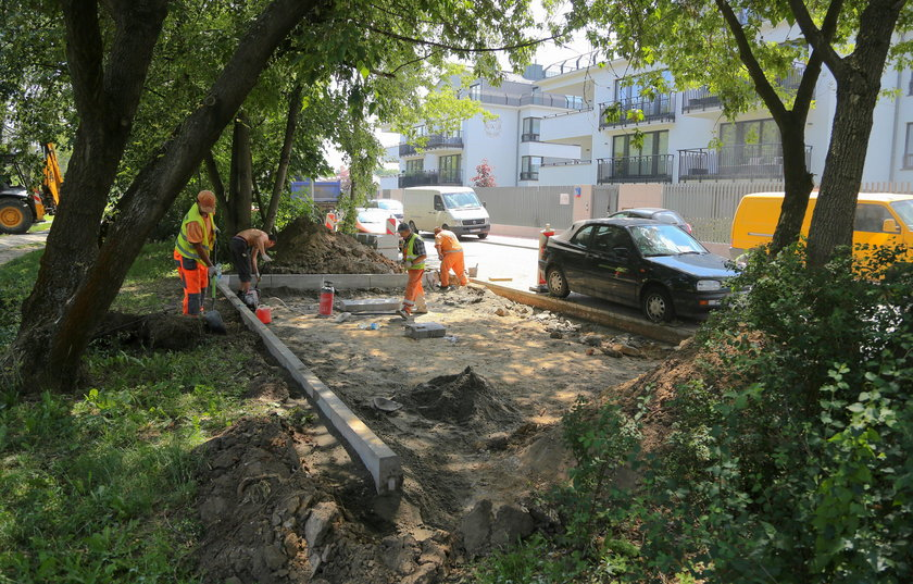 Tutaj zostanie zbudowany parking. Niestety kosztem drzew