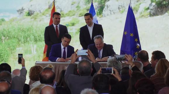 Paraf na sporazum Makedonije i Grčke