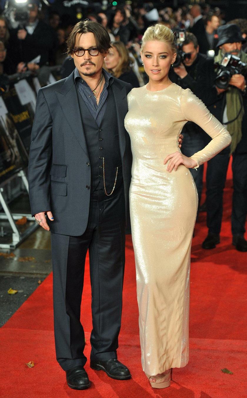 Amber Heard (31 l.) i Johnny Depp (54 l.)