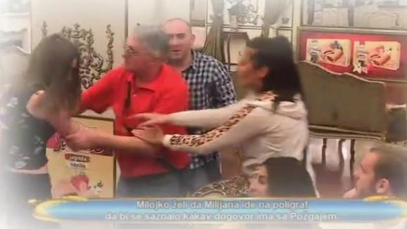 MILOJKO UDARIO ŠAMAR MILIJANI Neviđeni haos u programu uživo, jeziva scena šokirala sve