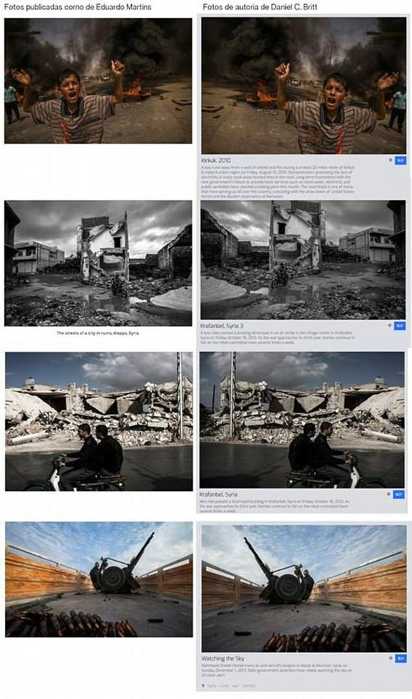 Fotografije američkog fotografa Danijela Brita je malo izmenio i objavio kao svoje