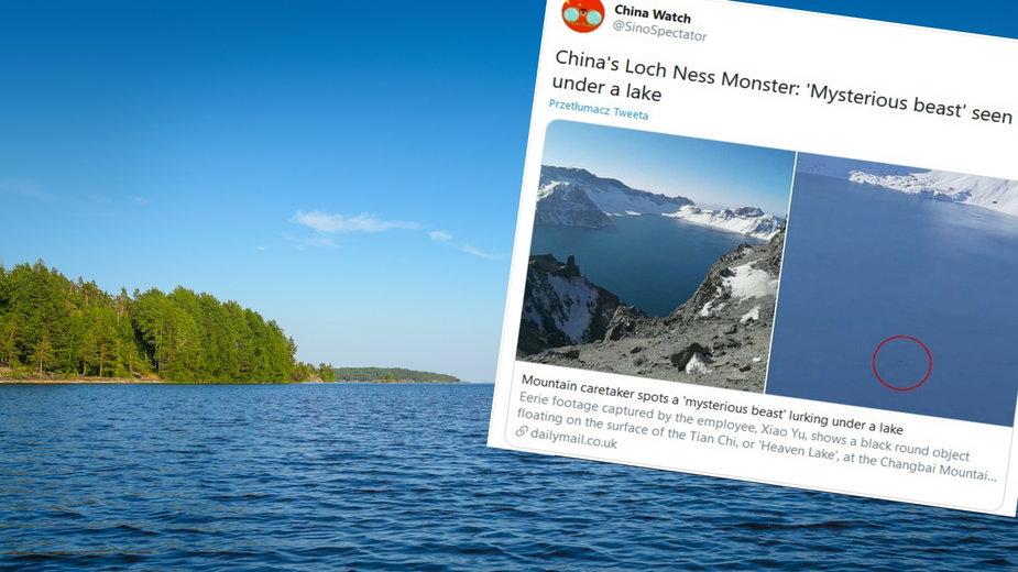 Potwór na chińskim jeziorze (Zdjęcie ilustracyjne)