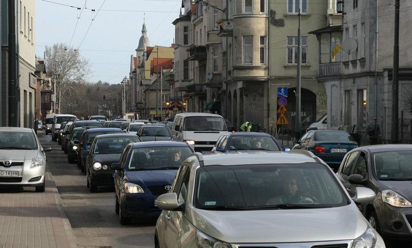Potworne korki w Sopocie
