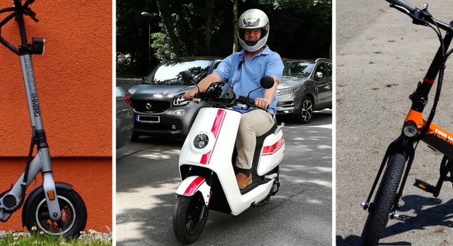 Die besten E-Scooter, E-Roller und E-Klappräder