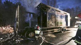 Eksplozja gazu w kabinie tira