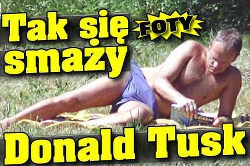Tak się smaży Donald Tusk. ZDJĘCIA!