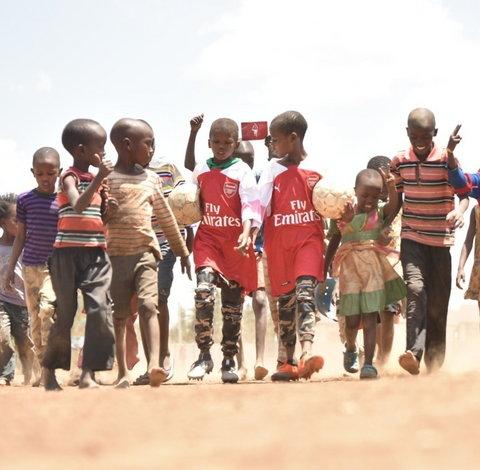 The Kenyan herdboys photo went viral [Twitter/Mesut Ozil]
