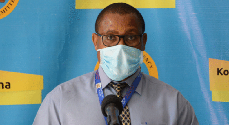 Acting Public Health Director Dr Francis Kuria during a recent Covid-19 daily briefing