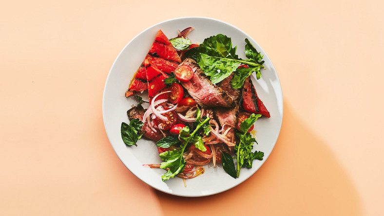 Steak Salad Recipe With Grilled Watermelon