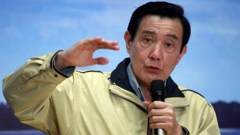 Taiwan president Ma Ying-jeou answers a question during a news conference after his trip to the disputed Itu Aba or Taiping island in the South China Sea, in Taipei, Taiwan, January 28, 2016.