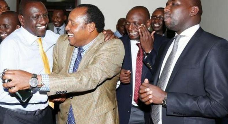 File image of DP Ruto with Kiambu Governor Ferdinand Waititu and Elgeyo Maraket Senator Kipchumba Murkomen