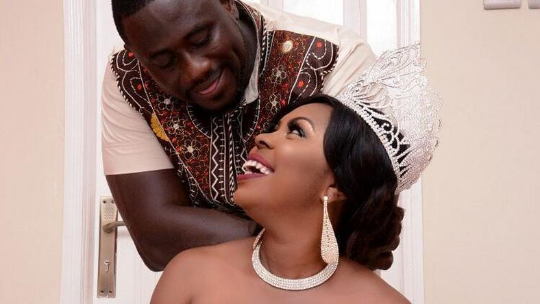 Afia Schwarzenegger and Lawrence Abrokwa