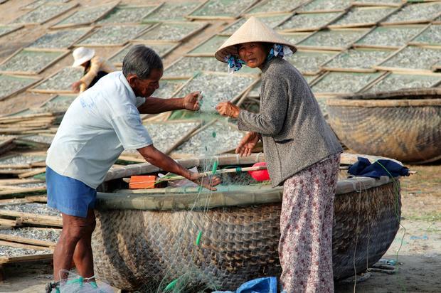 Wietnamska łódź thung chai
