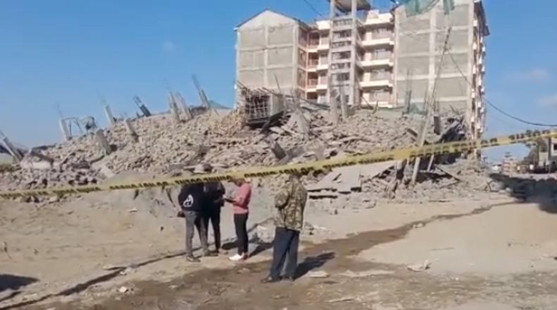 9 storey building collapses in Ruiru